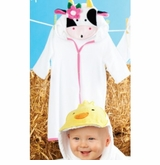 Mud Pie - Cow Terry Cloth Robe  out of stock