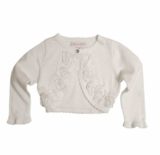 Bonnie Jean - White Rose Infant Cardigan Sweater sold out