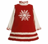 Red Snowflake Fleece Dress - sold out