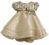 Infant or Toddler Girls Gold Dress