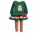 Snowman Triple Ruffle Legging Set