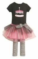 Bonnie Jean- Black Cupcake Tutu Legging Set  Sold out