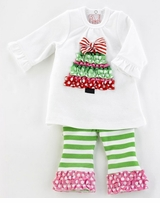 Ruffle Christmas Tree Tunic & Legging Set  SOLD OUT