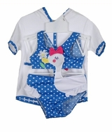 Infant Swimsuit - Blue Duck Monokini One Piece Swimsuit and Robe SOLD OUT
