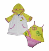 YELLOW BUTTERFLY - Infant Girls Swimsuit and Robe sold out