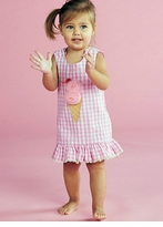 Little Girls Sweet Ice Cream Pom Pom Dress SOLD OUT