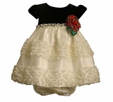 Baby Dress - Ivory and Black  18 MONTH
