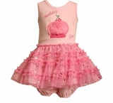 Pink Birthday Girl Ruffle Set -sold out