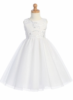 LITO Party Dress White Infant Dress - CLEARANCE FINAL SALE