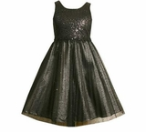 Black Sequin Girls Formal Dress  SOLD OUT