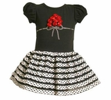 Girls Red Satin Rose Bouquet Dress  sold out