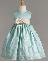 Elegant Girls Dress - Aqua - SOLD OUT