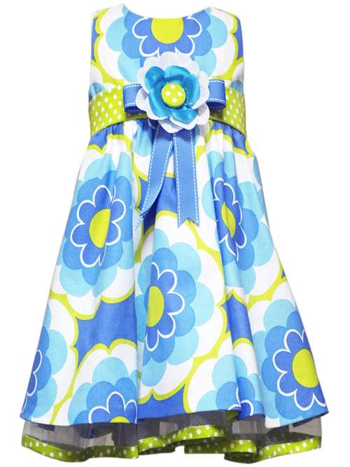Rare Editions Toddler or Girls Easter Dress - Periwinkle and Lime Floral Dress 2T - 6 4T at Sears.com