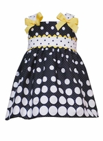 Dot on Dot Rick Rack Dress & Diaper Cover -SOLD OUT