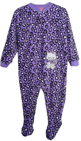 In Fashion Kids Toddler Pajamas - Footed PJS Purple Leopard Kitty Cat 4T-one left at Sears.com