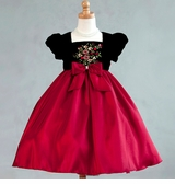 Beautiful Blk/Red Square Neck Dress  - sold out
