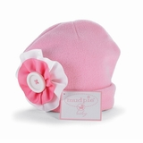 Button Ruffle Fleece Baby Hat sold out