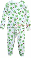 Infant Christmas Pajamas - Christmas Trees  SALE
