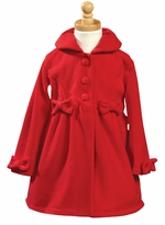 Lito Girls Dress Coat - Red  FINAL CLEARANCE SALE (no returns)