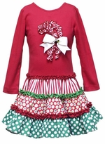 Girls Christmas Dress - Red Ruffle Candy Cane  sold out