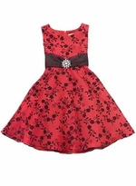 Girls 7-16 Special Occasion Dress - Red and Black
