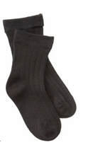 Boys BLACK Dress Socks -  Organic Socks Cotton Rib Crew