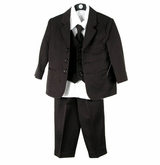 Boys Black Suit  - 3 Button Suit for Boys Size 7