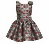 Silver Polka Dot Dress - SOLD OUT