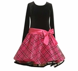 Girls Dresses  Fuchsia and Black Hipster  SOLD OUT