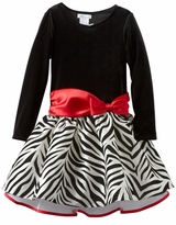 Girls Dresses Zebra Hipster with Red Bow  - sold out