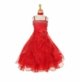 RED Dress - Dazzling Rhinestone GIrls Pageant or Formal Dress  SOLD OUT