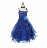 Royal Blue Dress - Dazzling Girls Rhinestone Formal Dress - sold out