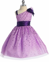 Lilac One Shoulder Sparkle Dress  SOLD OUT