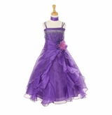 Girls Pageant Dress - Formal Dress Purple