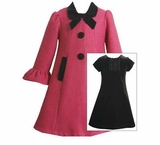 Fuchsia  Coat with Black Dress Set  sold out