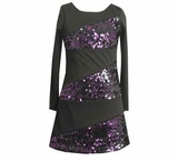 Black and Purple SEQUINED Dress   SIZE 7 or 10