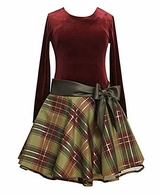Girls Holiday Dress - Burgundy Plaid  Girls  SOLD OUT