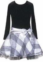 Black and Silver Plaid Dress  Girls - sold out