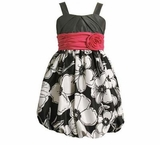 Black and White Print Bubble Dress  sold out