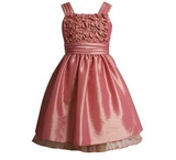 Fancy Pink Satin Dress   - sold out