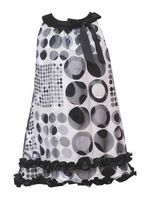 Black and Ivory Dot Dress  sold out
