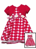 Girls Easter Dress Red Daisy Cardigan Dress