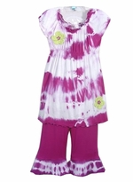 KASH TEN  Tie Dye Tunic / Pant Set - FINAL SALE CLEARANCE