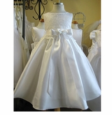Embroidered White Organza Formal Dress  - SOLD OUT