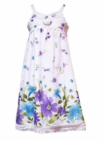 Plus Size Girls Dresses Blooming Violets  -sold out