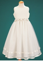 IVORY Satin Girls Easter Dress with Tulle Skirt - SOLD OUT