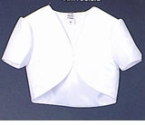 Girls White Satin Bolero Jacket  SOLD OUT