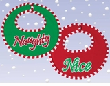 Bearington Baby Naughty or Nice Reversible Christmas Bib
