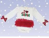 Bearington Baby I Love Santa Tutu Bodysuit