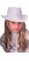 Childs Better Quality Cowboy Hat - White  - sold out